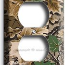 OAK TREE MOSSY CAMO CAMOUFLAGE POWER OUTLET RESEPTACLE WALL PLATE HUNTING CABIN