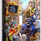 ZOOTOPIA FOX NICK JUDY BUNNY SLOTH FLASH SINGLE LIGHT SWITCH WALL PLATE COVER