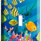 NEW TROPICAL SEA EXOTIC CORAL AQUARIUM FISH SINGLE LIGHT SWITCH WALL PLATE COVER