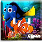 FINDING NEMO CLOWN FISH DORY SEA CORAL REEF DOUBLE LIGHT SWITCH WALL PLATE OCEAN