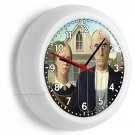 GRANT WOOD AMERICAN GOTHIC MODERN PAINTING WALL CLOCK LIVING ROOM BEDROOM DECOR