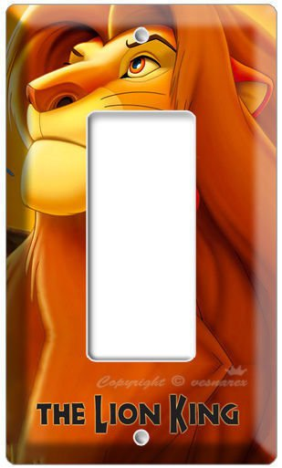 NEW LION KING SIMBA DISNEY'S 3D MOVIE SINGLE DECORA LIGHTSWITCH WALL PLATE COVER