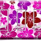 PINK HAWAIIAN HIBISCUS FLOWERS TRIPLE GFI LIGHT SWITCH PLATE COVER BEDROOM DECOR