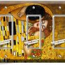 GUSTAV KLIMT THE KISS GOLD PAINTING TRIPLE GFI LIGHT SWITCH WALL PLATE ART COVER