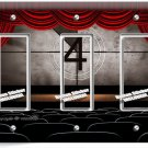 TV ROOM HOME MOVIE THEATER BIG SCREEN TRIPLE GFCI LIGHT SWITCH WALL PLATE COVER