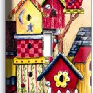RUSTIC COUNTRY BIRD HOUSES SWEET HOME SINGLE LIGHT SWITCH WALL PLATE COVER DECOR