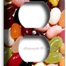 JELLY BEANS SWEET CANDY DUPLEX OUTLET WALL PLATE COVER KITCHEN DINING ROOM DECOR