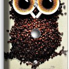 I HEART LOVE COFFEE BEANS OWL LIGHT DIMMER VD CABLE WALL PLATE COVER HOUSE DECOR