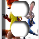 ZOOTOPIA FOX NICK BUNNY RABBIT JUDY DUPLEX OUTLET WALL PLATE COVER HOME DECOR