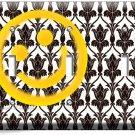 SHERLOCK HOLMES WALLPAPER HAPPY FACE PATTERN TRIPLE LIGHT SWITCH COVER ART DECOR