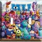 MONSTERS INC UNIVERSITY MIKE SULLY DOUBLE LIGHT SWITCH COVER KIDS ROOM DECOR ART