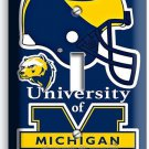 UNIVERSITY of MICIGAN FOOTBALL TEAM SINGLE LIGHT SWITCH WALL PLATE BOYS BEDROOM