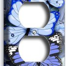 BLUE BUTTERFLIES DUPLEX OUTLET WALL PLATE COVER BABY BOY ROOM NURSERY HOME DECOR