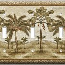 EXOTIC PALM TREES TRIPLE LIGHT SWITCH COVER WALLPLATE N