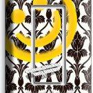 SHERLOCK HOLMES WALLPAPER HAPPY FACE PATTERN SINGLE GFI LIGHT SWITCH COVER DECOR