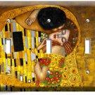 GUSTAV KLIMT THE KISS GOLD PAINTING TRIPLE LIGHT SWITCH WALL PLATE NEW ART COVER