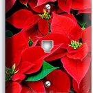 POINSETTIA CHRISTMAS HOLIDAY FLOWERS PHONE TELEPHONE WALL PLATE COVER HOME DECOR