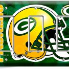 GREEN BAY PACKERS FOOTBALL TRIPLE GFCI LIGHT SWITCH WALL PLATE BOYS ROOM GARAGE