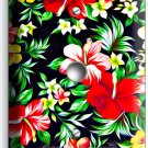 HAWAIIAN HIBISCUS FLOWERS PRINT PATTERN LIGHT DIMMER CABLE COVER WALLPLATE DECOR