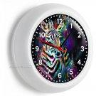 COLOR SPLASH ZEBRA WALL CLOCK ART STUDIO BEDROOM LIVING ROOM HOME OFFICE DECOR