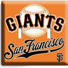 SF SUN FRANCISCO GIANTS MLB TEAM LOGO DOUBLE LIGHT SWITCH WALL PLATE COVER DECOR