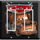 DISNEY CARS 3 MATER RUSTY OLD TOW TRUCK DOUBLE GFI LIGHT SWITCH WALL PLATE COVER