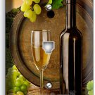 TUSCAN VINEYARD RUSTIC WINE BARREL GRAPES PHONE JACK TELEPHONE WALL PLATE COVER