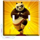 DISNEY KUNG FU PANDA BEAR 2 DOUBLE LIGHT SWITCH COVER WALL PLATE ROOM DECOR dvd