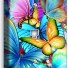COLORFUL BUTTERFLIES PHONE TELEPHONE WALL PLATE COVER BABY ROOM NURSERY NY DECOR