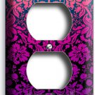 DAMASK PURPLE LUXURY PATTERN ELECTRICAL OUTLET WALL PLATE COVER MODERN ART DECOR