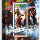 WILD RUNNING HORSES FOREST WATERFALL SINGLE GFCI LIGHT SWITCH WALL PLATE COVER