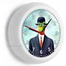 SON OF MAN RENE MAGRITTE MODERN PAINTING WALL CLOCK LIVING ROOM BEDROOM DECOR