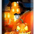 HALLOWEEN SCARY GHOSTS PUMPKINS PHONE TELEPHONE WALL PLATE COVER ROOM DECORATION