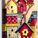 RUSTIC COUNTRY BIRD HOUSES SWEET HOME PHONE TELEPHONE WALL PLATE COVER ART DECOR