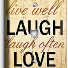 LIVE LAUGH LOVE RUSTIC COUNTRY PHONE JACK TELEPHONE WALL PLATE KITCHEN ROOM ART