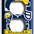UNIVERSITY of MICIGAN FOOTBALL TEAM DUPLEX OUTLET WALL PLATE COVER BOYS BEDROOM