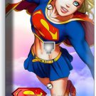 SUPERGIRL COMICS LIGHT PHONE TELEPHONE WALL PLATE COVER GIRLS BEDROOM ROOM DECOR