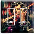 SHERLOCK HOLMES VIOLIN BENEDICT CUMBERBATCH DOUBLE GFCI LIGHT SWITCH COVER DECOR