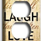 LIVE LAUGH LOVE RUSTIC COUNTRY DUPLEX OUTLET WALL PLATE KITCHEN BEDROOM HOME ART