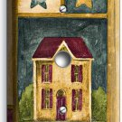 RUSTIC OLD AMERICANA COUNTRY HOUSE LIGHT DIMMER VIDEO CABLE COVER WALL PLATE ART