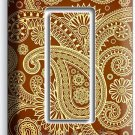 DAMASK PAISLEY PATTERN SINGLE GFCI LIGHT SWITCH WALL PLATE COVER LIVING ROOM ART