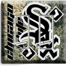 CHICAGO WHITE SOX BASEBALL TEAM DOUBLE GFCI LIGHT SWITCH WALL PLATE COVER DECOR
