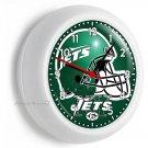 NEW YORK JETS NFL FOOTBALL TEAM LOGO WALL CLOCK MAN CAVE BOYS TV ROOM ART DECOR