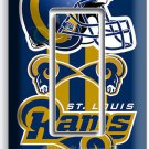 ST LOUIS RAMS FOOTBALL TEAM SINGLE GFCI LIGHT SWITCH WALL PLATE BOYS ROOM GARAGE