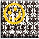 SHERLOCK HOLMES WALLPAPER HAPPY FACE PATTERN DOUBLE LIGHT SWITCH COVER ART DECOR