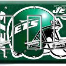 NY NEW YORK JETS NFL FOOTBALL TEAM TRIPLE GFCI LIGHT SWITCH WALL PLATE BOYS ROOM