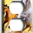 LIPIZZAN STALLION MUSTANG HORSES DUPLEX OUTLET WALL PLATE COVER HOME ROOM DECOR
