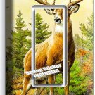 WHITETAIL DEER BUCK ANTLERS SINGLE GFCI LIGHT SWITCH WALL PLATE COVER HOME DECOR