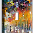 COLORFUL DREAMY RAINY DAY SINGLE LIGHT SWITCH WALL PLATE COVER ART STUDIO DECOR