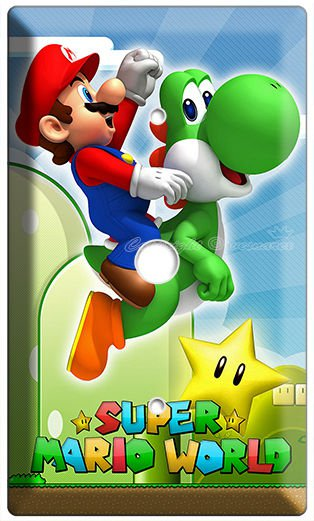 NEW SUPER MARIO YOSHI LUIGI LIGHT DIMMER CABLE COVER WALL PLATE DS NINTENDO WII